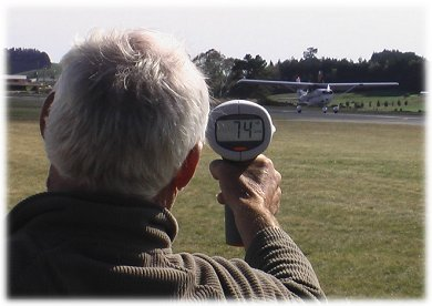 Bushnell Speedster II radar in action
