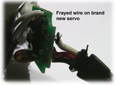 Almost broken servo wire